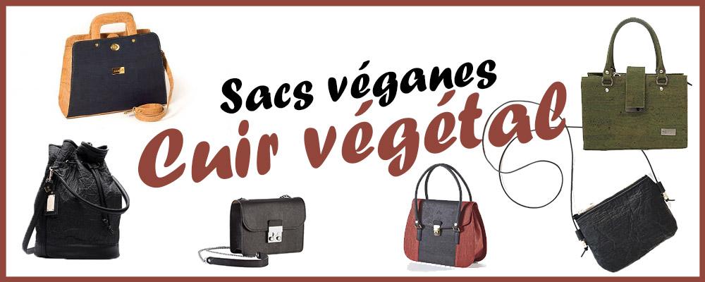 cuir vegetal sacs veganes