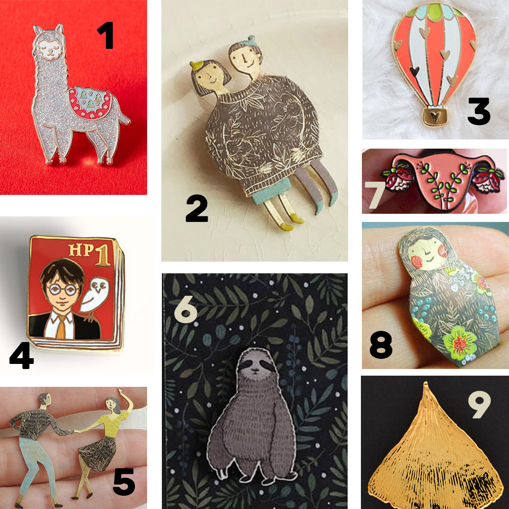 broches pin's etsy