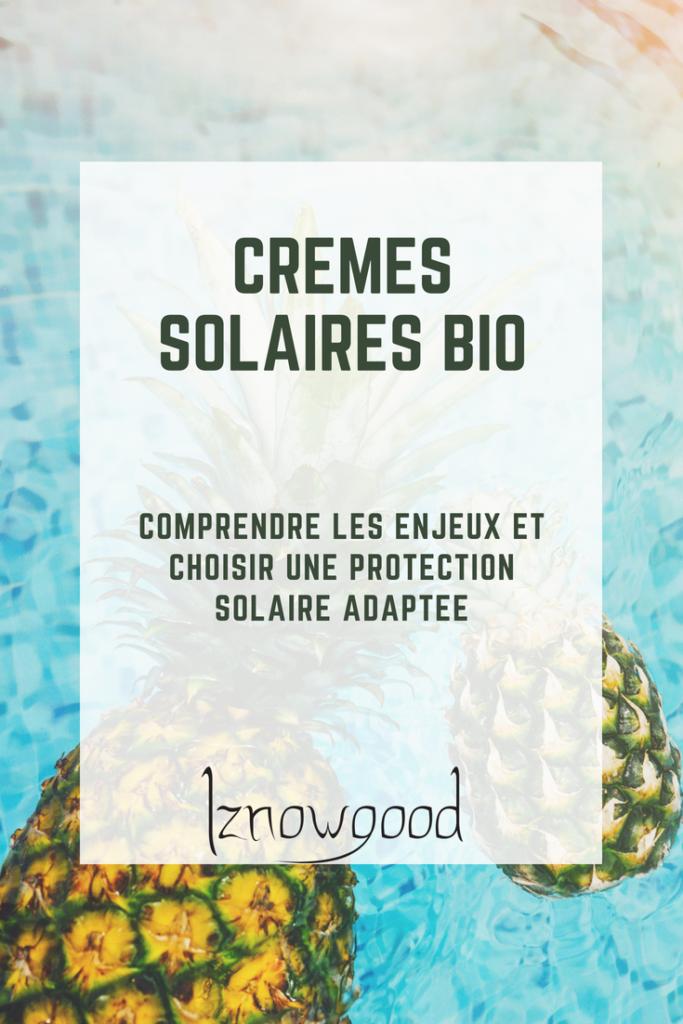creme solaire bio