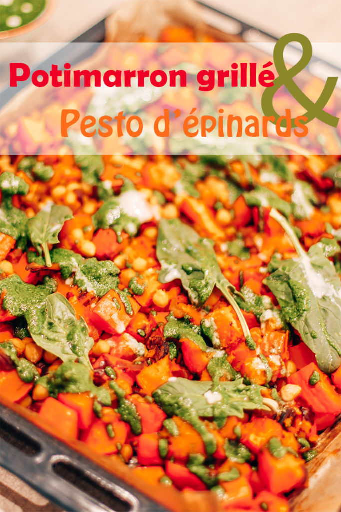 potimarron grillé pesto épinards